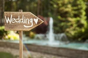 Rustic wedding plaque